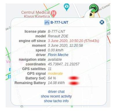 dezvoltare aplicatie flota auto localizare