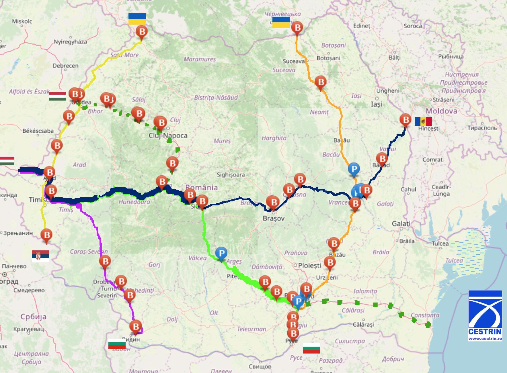 Coridoare de tranzit pentru transportul mărfurilor în România