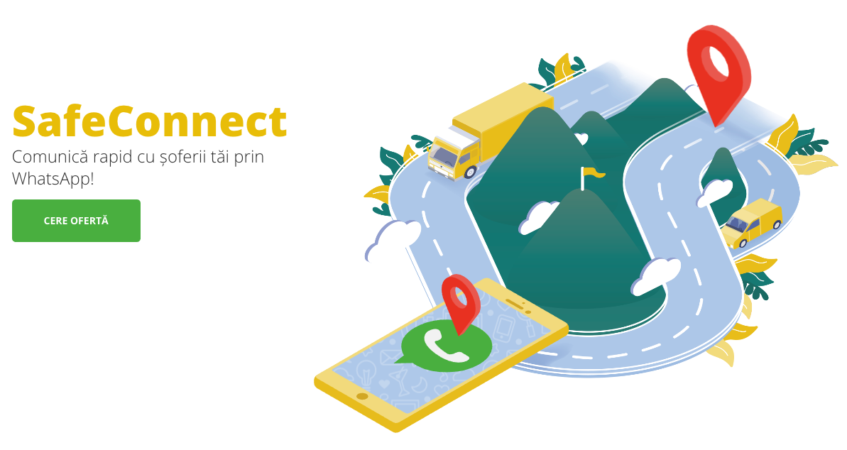 SafeConnect - aplicația WhatsApp integrată în SafeFleet